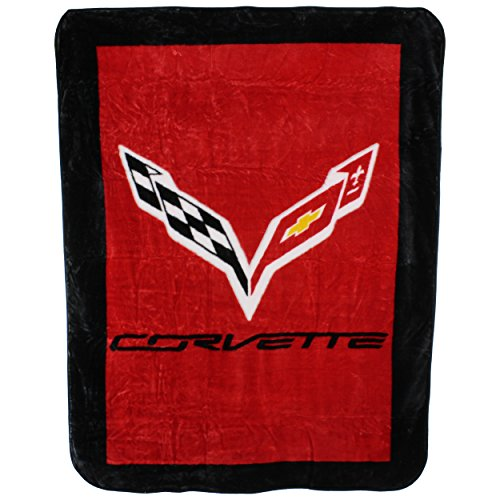 College Covers Soft Raschel Corvette Plush Throw Blanket, 63' x 86'