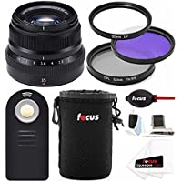 Fujifilm 35mm f/2 WR Lens for Fuji X Series w/Focus Accesory Bundle