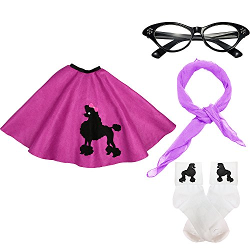 Girl 1950s Costumes - 50s Girls Costume Accessory Set -