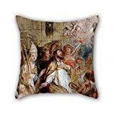 slimmingpiggy 20 x 20 inches / 50 by 50 cm oil painting De Crayer, Gaspar - St Augustine in Ecstasy pillow shams ,each side ornament and gift to dining room,pub,home theater,sofa,office,boys