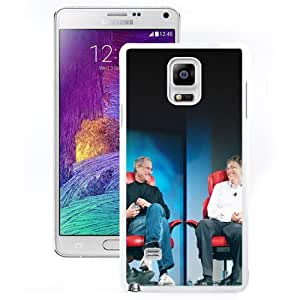 Durable Phone Case Steve Jobs and Bill Gates Galaxy Note 4 Wallpaper in White