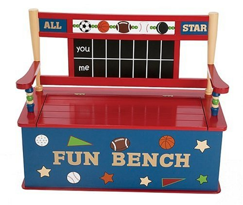 Levels of Discovery All Star Sports Toy Box Bench (Baseball Toy Chest)