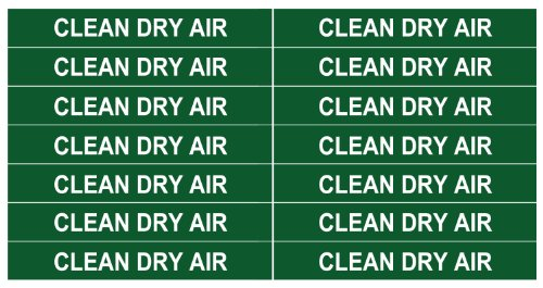 CLEAN DRY AIR ____Gas Pipe Tubing Labels__ <PACKAGE OF 28 LABELS> 3/8