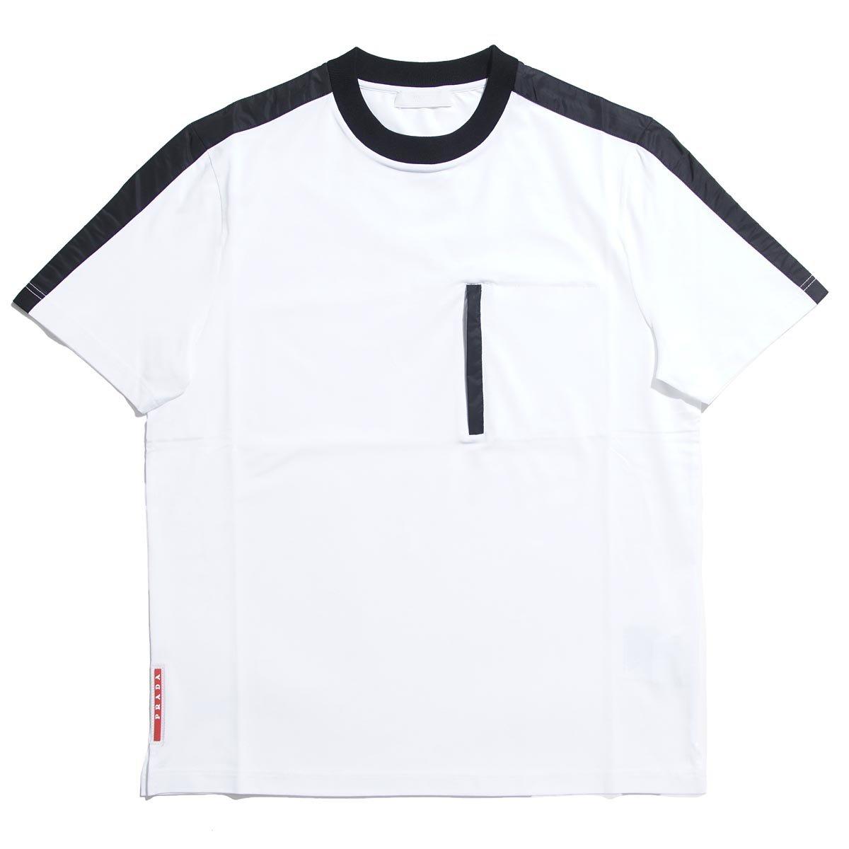 (プラダ) PRADA クルーネック Tシャツ [並行輸入品] B079VRDTH1 L|ホワイト ホワイト L