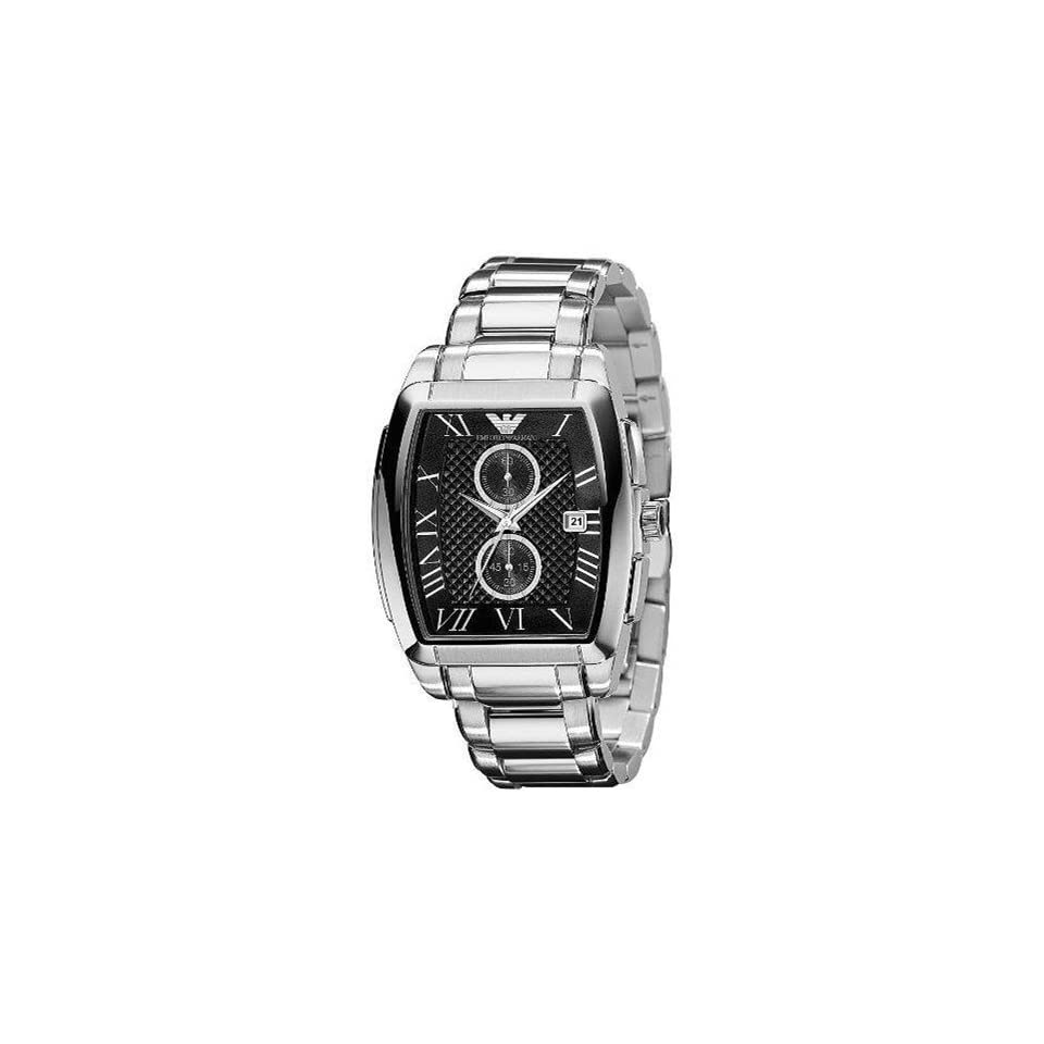 Armani Stainless Steel Quartz Black Dial Mens Watch   AR0937