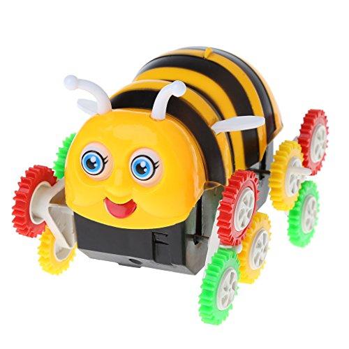 Biuuu かわいい電気おもちゃの車、小型蜂12ホイールダンプトラック360度ロール車のおもちゃ