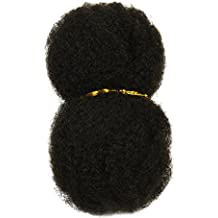 "Tight Afro Kinky Bulk for Braiding 6-8"" in Off Black, #1B"