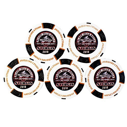 Harley-Davidson Black Hills Group 78th Sturgis Rally Poker Chip 5 Store Set by Harley-Davidson