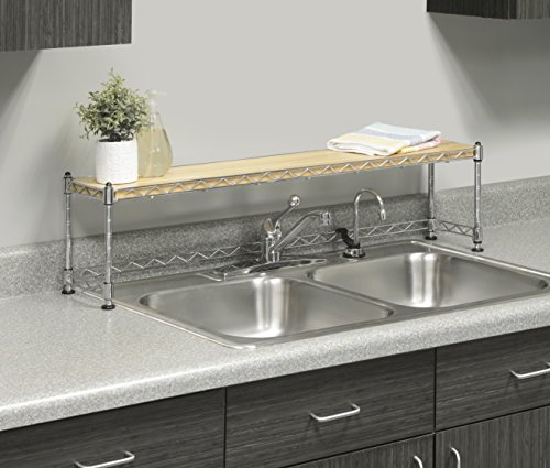 Amazoncom Whitmor Supreme Sink Shelf Multiuse Organizer Wood