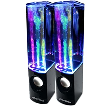 speakers in amazon. iboutique colourjets usb dancing fountain speakers for pc/mac/mp3 players/mobile phones in amazon