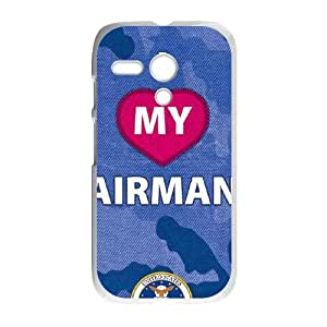 Motorola G Cell Phone Case White_I Heart My Airman Camo Udpqn