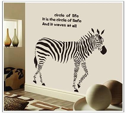 Libre Albedrío círculo de la vida Cita Zebra Mural adhesivo de decoración para el hogar