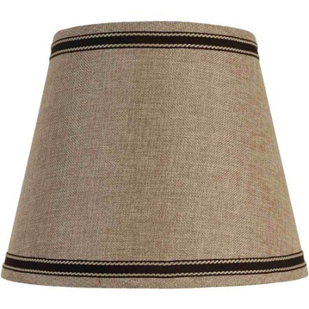 Better Homes and Gardens Fabric Drum Shade, Black Trim | Made of Textured Fabric | 10.50 x 10.50 x 12.50 Inches