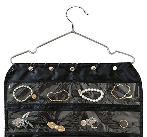 Brotrade Hanging Jewelry Organizer,Accessories Organizer,Oxford 80 Pocket Organizer For Holding Jewelries (Black) by brotrade (Image #1)