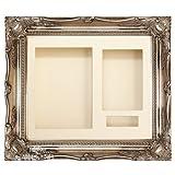 "Antique Silver Swept Ornate Deep Box Frame 12x10"" - Choose Mount"