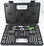 sae amp - 40pc-SAE-Standard-Tap-amp-Die-Set-w-Case-Screw-Extractor-Remover-Kit-Thread-NEW