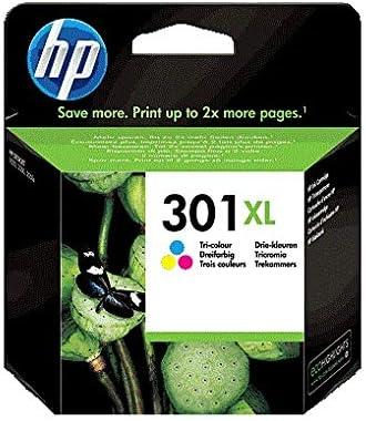 HP 301XL CH564EE, Cartucho de Tinta Original de alto rendimiento, Tricolor, Compatible con impresoras de inyección de tinta HP DeskJet 1050,2540,3050; OfficeJet 2620,4630; ENVY 4500, 5530: Hp: Amazon.es: Oficina y papelería