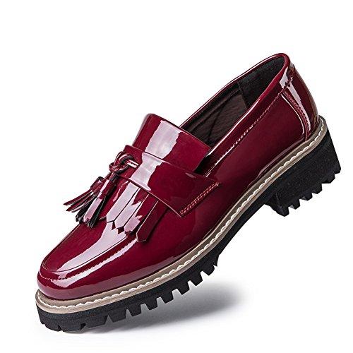 La primavera de zapatos nuevo Lok Fu zapatos mujeres planos zapatos casuales zapatos de cabeza redonda con plano B