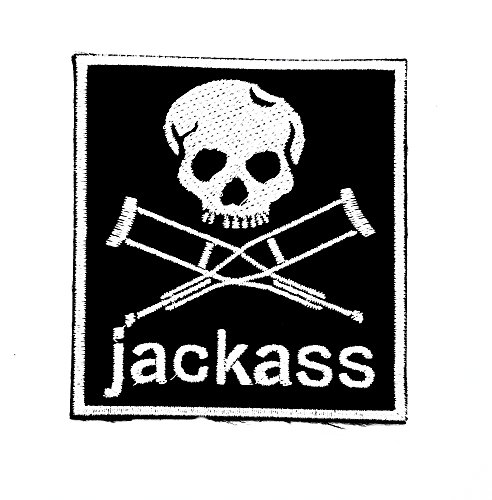MNC Patch Black Jackass Music Band Heavy Metal Punk Rock Logo iron on sew on patch Sign Badge Symbol Patch Iron on Applique Embroidered Jacket T shirt (Jackass Note)