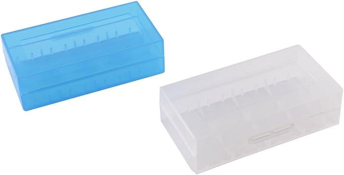 Sourcingmap plástico 18650 sostenedor de la Caja Protectora de la ...