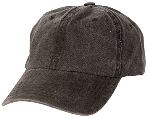 Man Ball Cap (Washed Cotton Baseball Cap (One Size, Black))