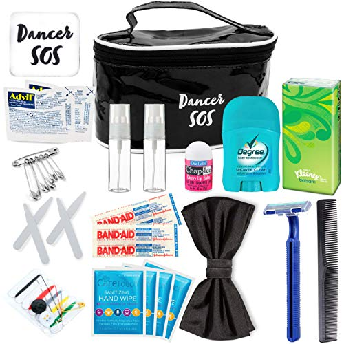 Gift Dance Set (Premium Dancer Travel Kit - Travel Emergency Kit for Ballroom Ballet Tap Jazz Contemporary - Survival Dance Kit - Luxury Necessities Accessories Gift For Women - Must Have TSA Approved (Men, Black))