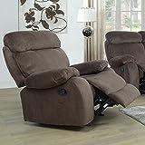 Corduroy Fabric Stuffed Comfortable Recliner (Tan)