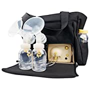 Style advanced double breast pump (Include Pump and Breast Milk Bags, 50 Count) Medela