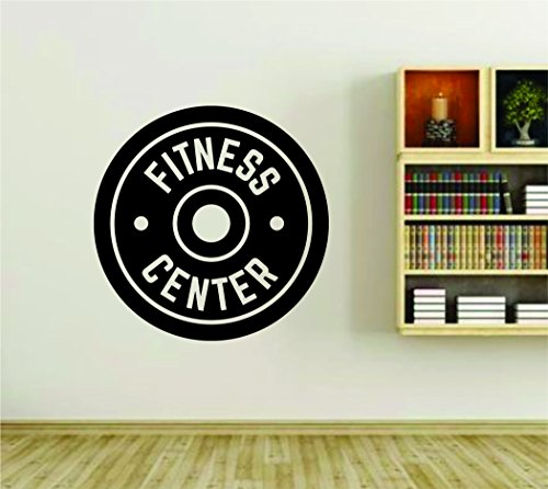 Fitness Center Gym Weight Design Wall Vinyl Decal Sticker Art Graphic Sticker