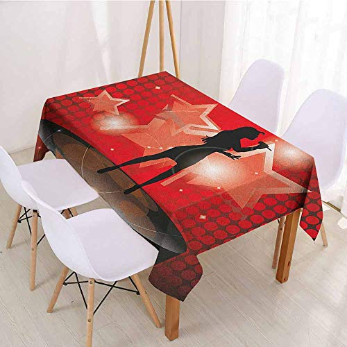 ScottDecor Rectangular Polyester Tablecloth Fabric Tablecloth W 70