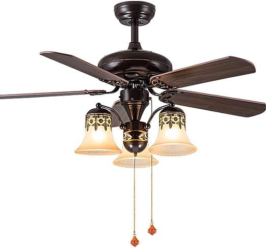 Ventiladores de techo con lámpara Ventilador De Techo Sala De Estar Led Con Luz Ventilador De