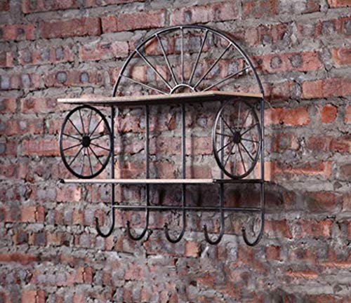MQRT LSY# Shelf, American Retro Creative Home Wall Iron Art Shelf Wall Hanging Industrial Wind Bar Tea Shop Wall Decoration ZMR&