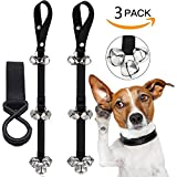 2pcs Dog Doorbell Training dog bell and 1pcs Mommy Hook, Doggie Doorbell with Extra Loud Bells for Housetraining Potty Training and Communicate Alarm Door Bell for Dogs and Cats Adjustable Door Bell