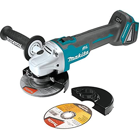 Makita XAG03Z 18V LXT Lithium-Ion Brushless Cordless Cut-Off/Angle Grinder, 4-1/2-Inch (Carbon Brushes For Grinder Makita)