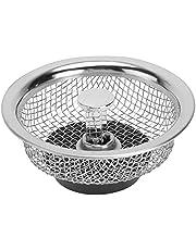 Angoily 2 st duschavlopp hårfångare rostfritt stål golvavlopp skydd anti- igensättning vattenfilter för badrum kök tvättrum silver 8 cm