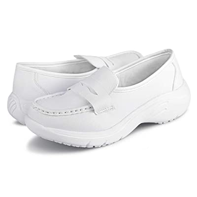 Hawkwell Women's Comfort Work Shoes Slip Resistant Nursing Shoes: Shoes