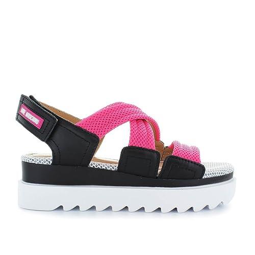613c66a7ae9 Zapatos de Mujer Sandalia Rosa Negro Love Moschino Primavera Verano 2018   Amazon.es  Zapatos y complementos