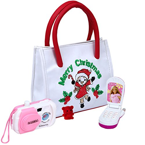 Camera Free Gift Set - U-Trust My First Purse Set Toy with Camera , Flip Phone and a Tiny Red Bear - Perfect Gift for your little Princess