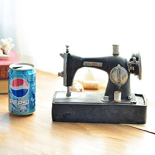 Ornamentesd el país europeo y americano retro ¿antigua máquina de coser Escaparate Props Cafe decoración tienda de ropa: Amazon.es: Hogar