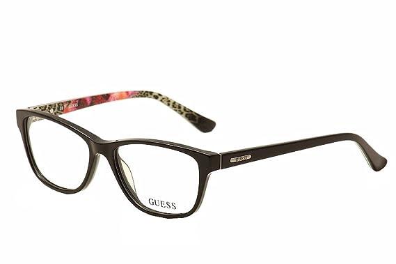 c6dcee57d4 Guess Women s Eyeglasses GU2513 GU 2513 005 Black Multi Full Rim Optical  Frame