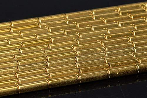 9x3MM Gold Hematite Round Tube Grade AAA Natural Gemstone Loose Beads 15.5