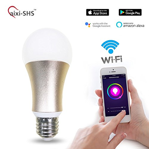 WiFi Smart LED Dimmable Color Light Bulb E27 Compatible with Alexa, 5W – No Need Hub (1 x Gold)
