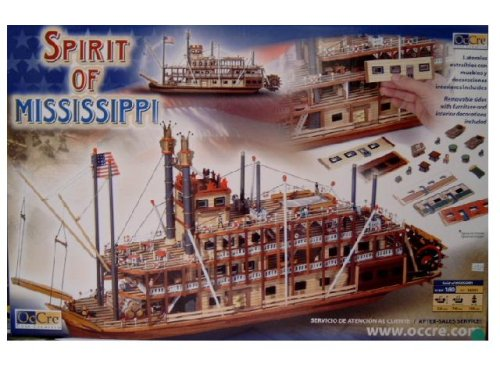 Occre 14003 Mississippi 1:80 Scale Shipbuilding - Mississippi Riverboat