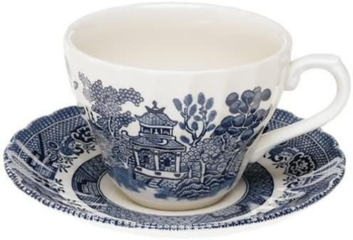 Set of 6 Blue Willow china palace mugs