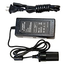 HQRP 12V 10A Heavy Duty Converter for Coleman 2000017414, DC 12V QuickPump 2000001075, 12V Direct Plug Spotlight 2000013871, PowerChill 40 and 16 Quart Coolers AC DC Adapter Car Charger + Coaster