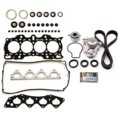SCITOO Engine Timing Belt and Head Gasket Kit Fits 1997 1998 1999 2000 2001 Honda CR-V 2.0L 1972CC l4 Gas DOHC