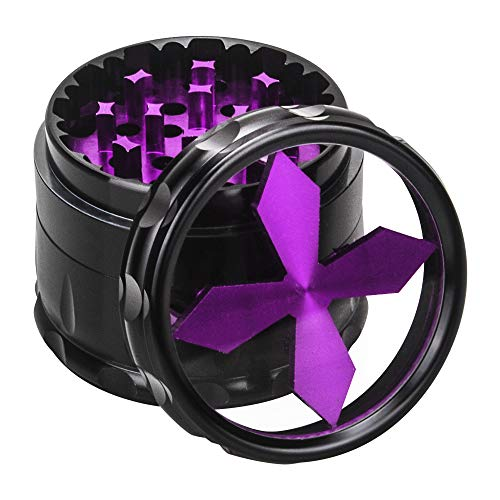 Quality Aluminium Herb Grinder By Fengli, 2.5'' Large 4-part Spice  Grinder with Pollen Screen,Purple