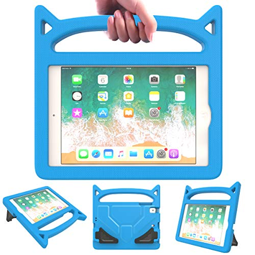 Ear Mini Gel (Lowee Kids Case for iPad Mini 5/4/3/2/1,Durable Light Weight Shock Proof Protective Handle Cute Stand Cover for Apple 7.9 inch iPad Mini 5th(2019),4th,3rd,2nd,1st Generation (Blue))