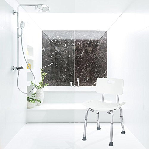 85%OFF JCMASTER Shower Chair with Back for Disabled