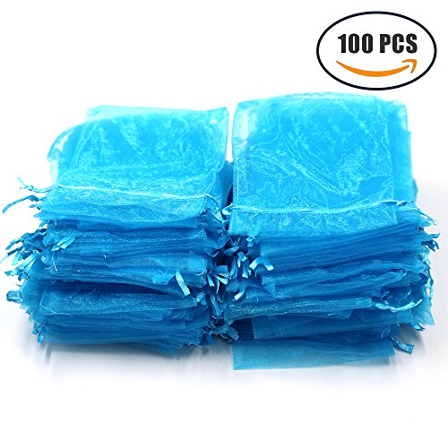 Md trade Organza Drawstring Pouches Gift Bags Pouch for jewerly / wedding / party, 4